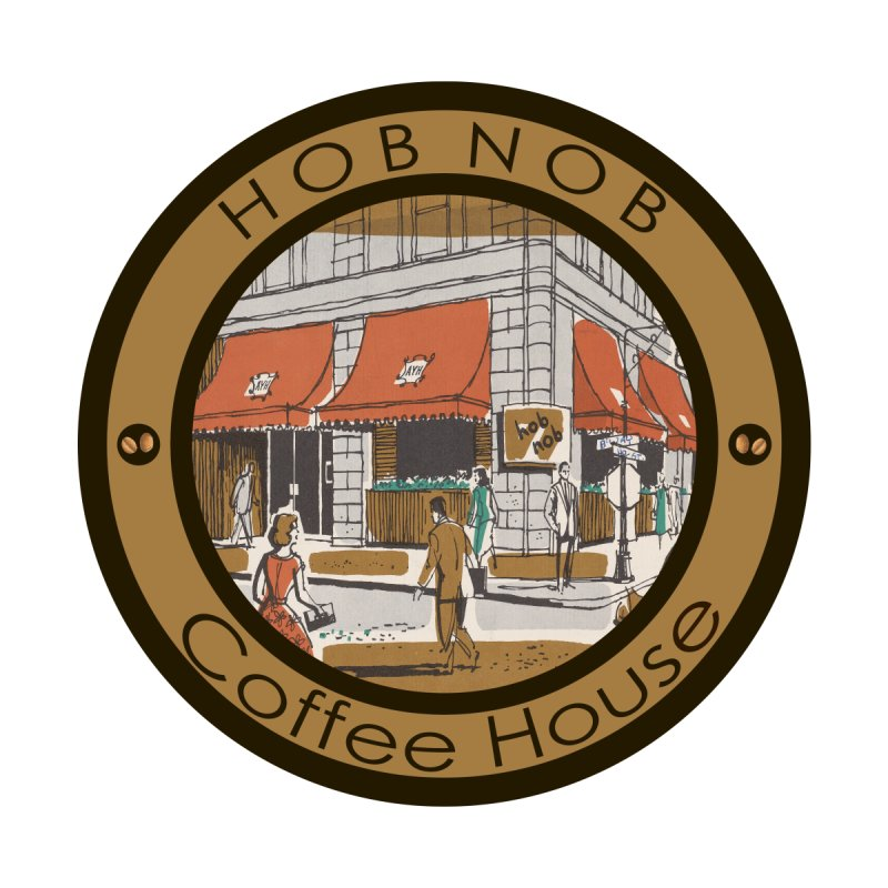 Hob Nob Coffee House Accessories Face Mask by All Fashioned by Nature Artist Shop