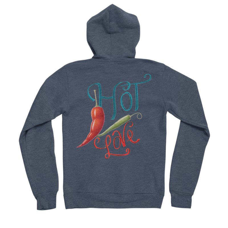 Hot Love Women's Zip-Up Hoody by All Fashioned by Nature Artist Shop