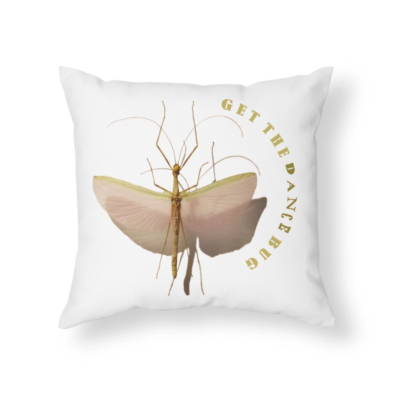 Dance Bug Home Throw Pillow by All Fashioned by Nature Artist Shop