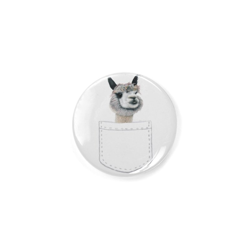 Alpaca In My Pocket Accessories Button by All Fashioned by Nature Artist Shop