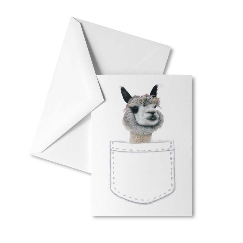 Alpaca In My Pocket Accessories Greeting Card by All Fashioned by Nature Artist Shop