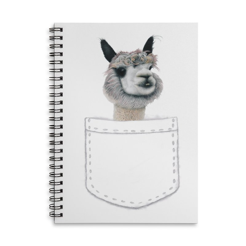 Alpaca In My Pocket Accessories Notebook by All Fashioned by Nature Artist Shop