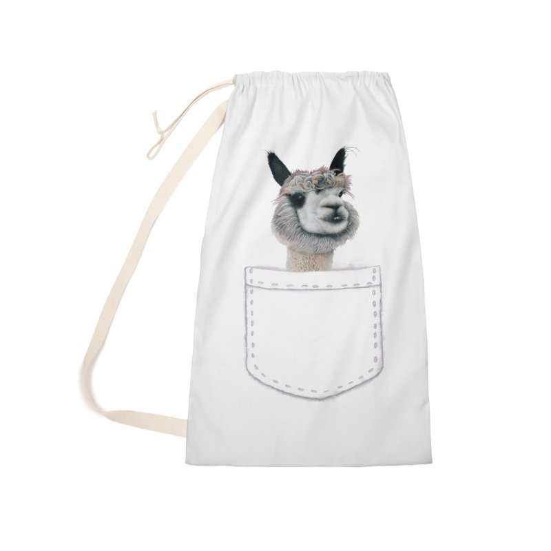 Alpaca In My Pocket Accessories Bag by All Fashioned by Nature Artist Shop