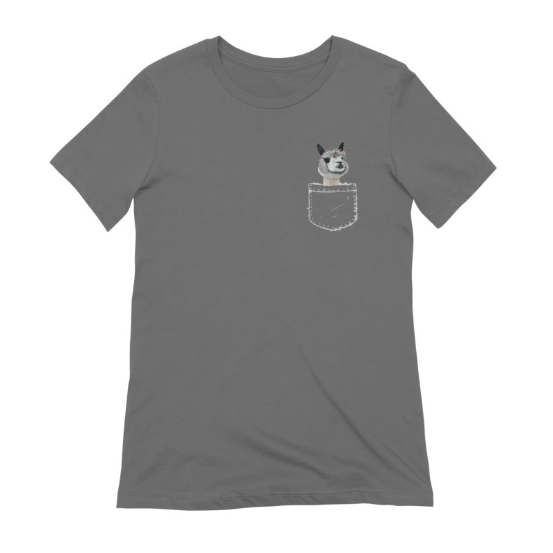 Alpaca In My Pocket Women's T-Shirt by All Fashioned by Nature Artist Shop