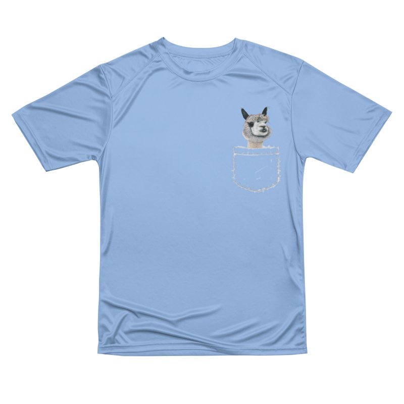 Alpaca In My Pocket Men's T-Shirt by All Fashioned by Nature Artist Shop
