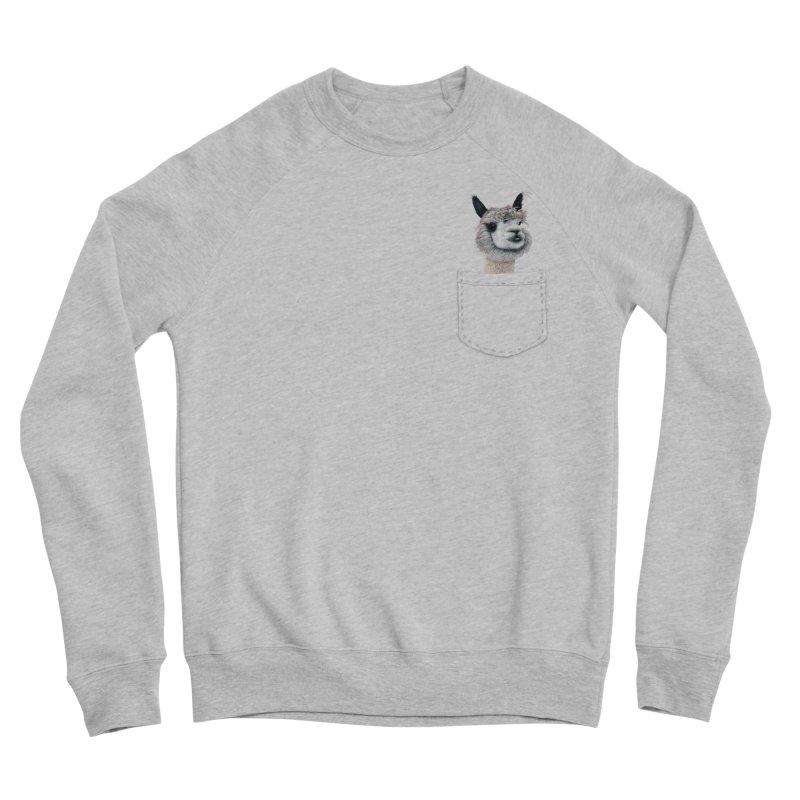 Alpaca In My Pocket Women's Sweatshirt by All Fashioned by Nature Artist Shop