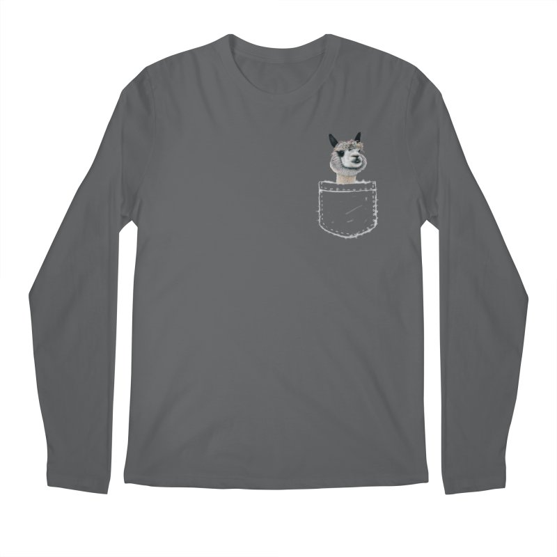 Alpaca In My Pocket Men's Longsleeve T-Shirt by All Fashioned by Nature Artist Shop