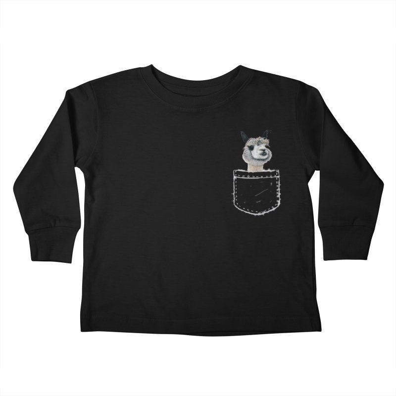 Alpaca In My Pocket Kids Toddler Longsleeve T-Shirt by All Fashioned by Nature Artist Shop