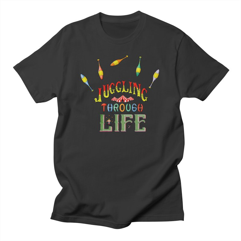 Juggling Through Life Men's T-Shirt by All Fashioned by Nature Artist Shop