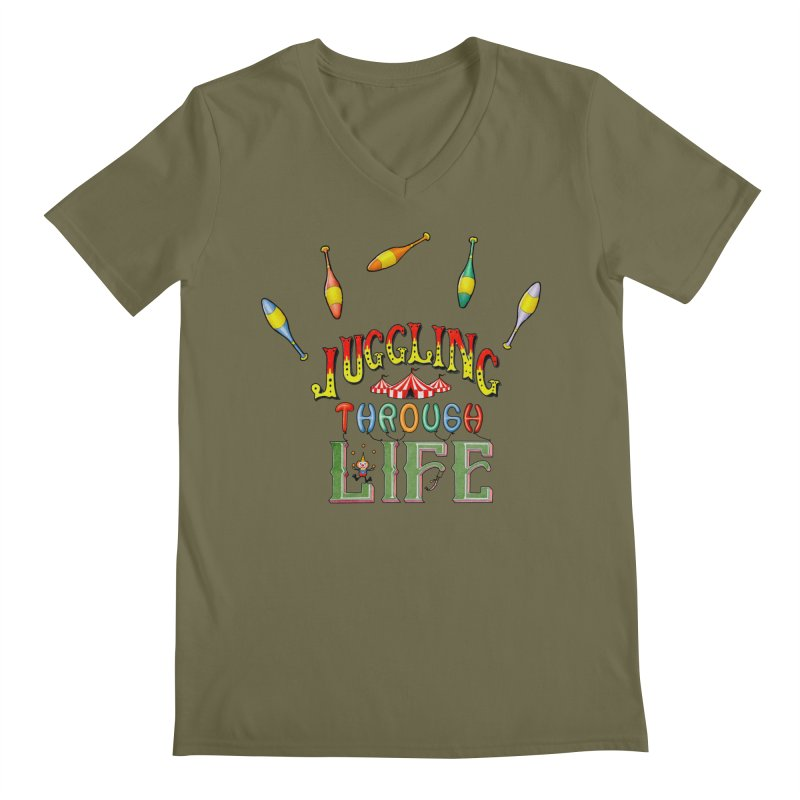 Juggling Through Life Men's V-Neck by All Fashioned by Nature Artist Shop