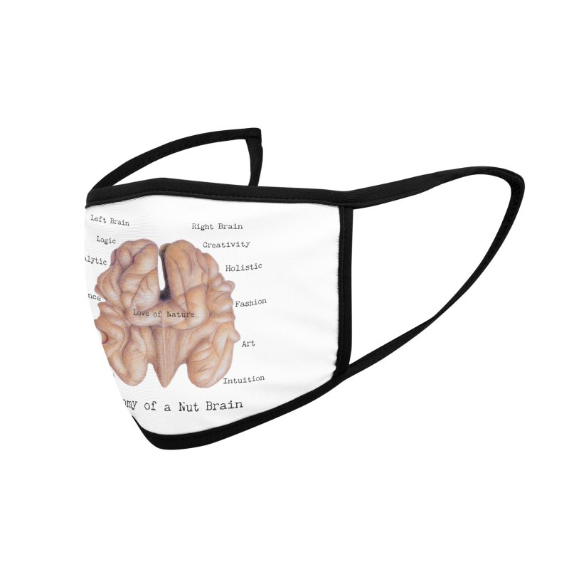 Anatomy of a Nut Brain Accessories Face Mask by All Fashioned by Nature Artist Shop