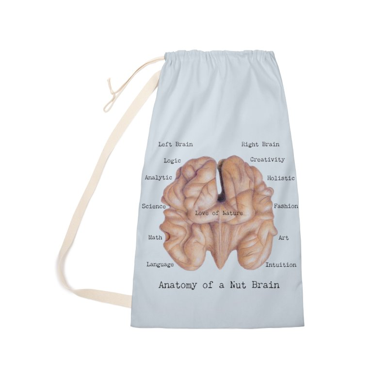 Anatomy of a Nut Brain Accessories Bag by All Fashioned by Nature Artist Shop