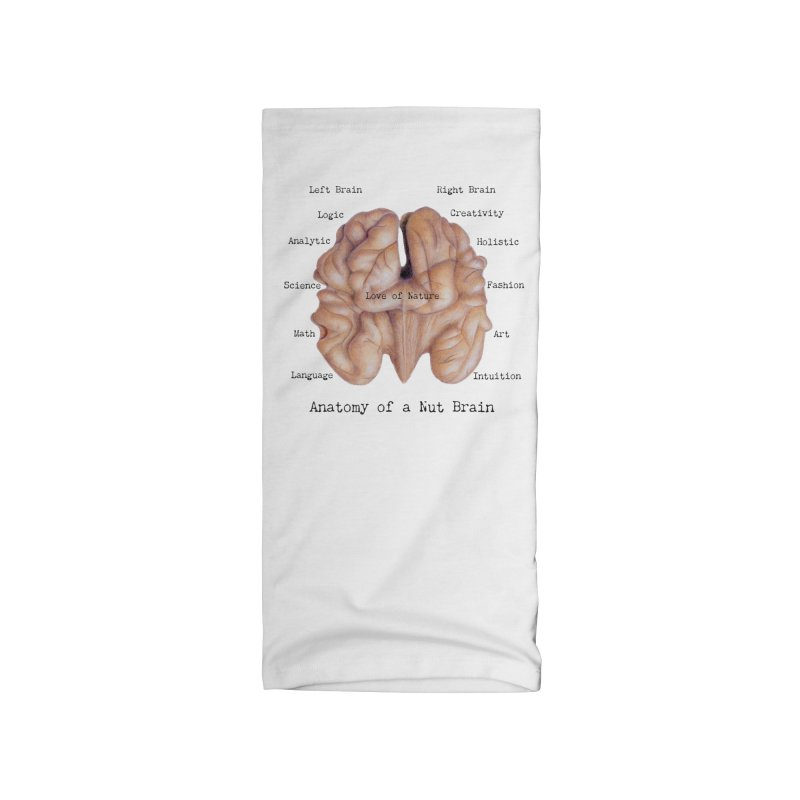 Anatomy of a Nut Brain Accessories Neck Gaiter by All Fashioned by Nature Artist Shop