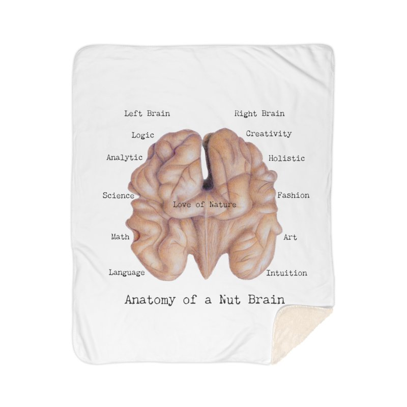 Anatomy of a Nut Brain Home Blanket by All Fashioned by Nature Artist Shop