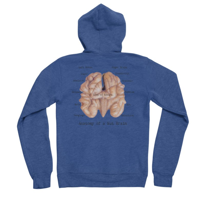 Anatomy of a Nut Brain Women's Zip-Up Hoody by All Fashioned by Nature Artist Shop