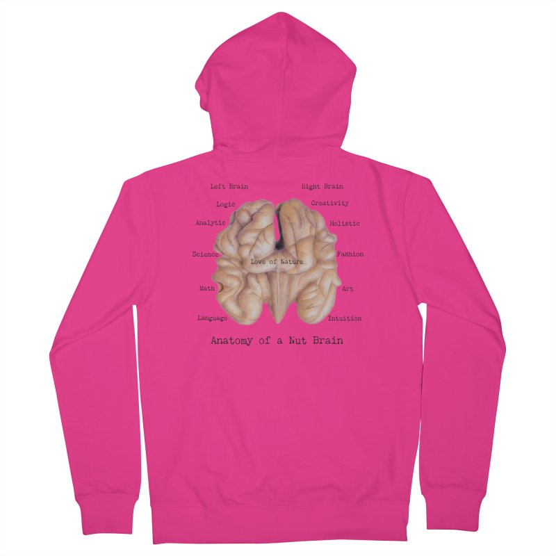 Anatomy of a Nut Brain Men's Zip-Up Hoody by All Fashioned by Nature Artist Shop
