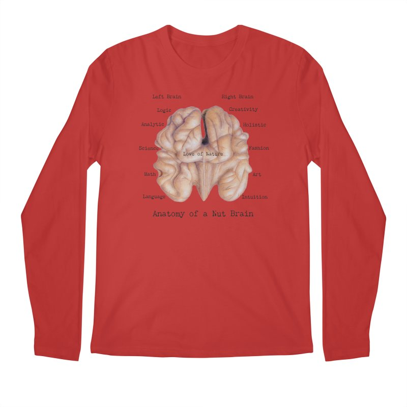 Anatomy of a Nut Brain Men's Longsleeve T-Shirt by All Fashioned by Nature Artist Shop
