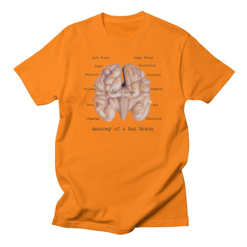 Anatomy of a Nut Brain Men's T-Shirt by All Fashioned by Nature Artist Shop