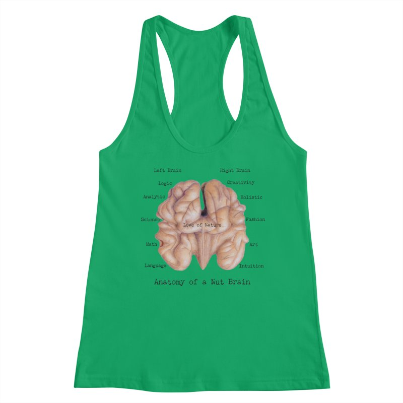 Anatomy of a Nut Brain Women's Tank by All Fashioned by Nature Artist Shop