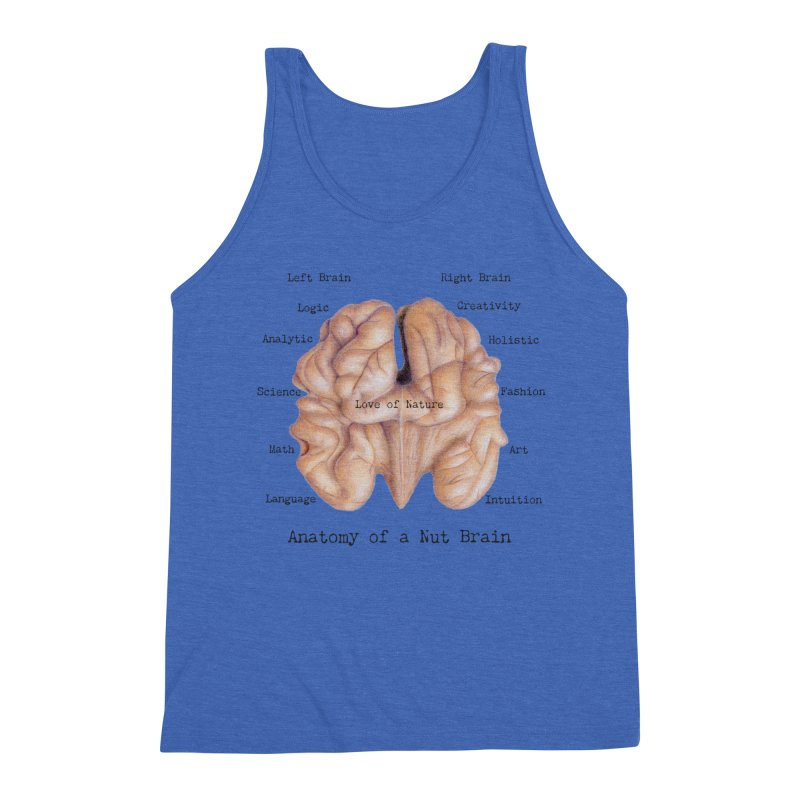 Anatomy of a Nut Brain Men's Tank by All Fashioned by Nature Artist Shop