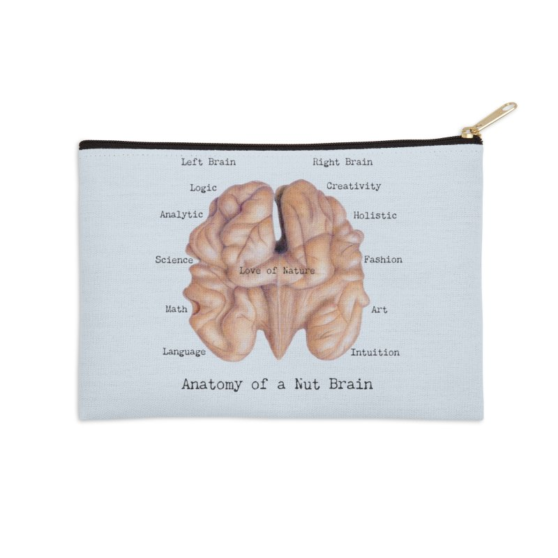 Anatomy of a Nut Brain Accessories Zip Pouch by All Fashioned by Nature Artist Shop