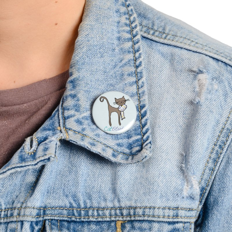Cattitude Accessories Button by All Fashioned by Nature Artist Shop