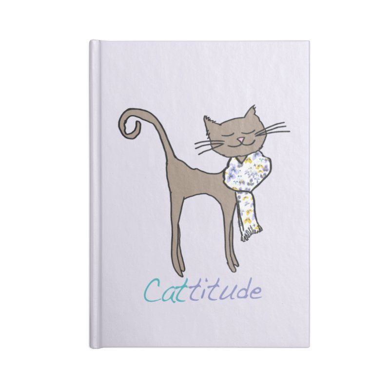 Cattitude Accessories Notebook by All Fashioned by Nature Artist Shop