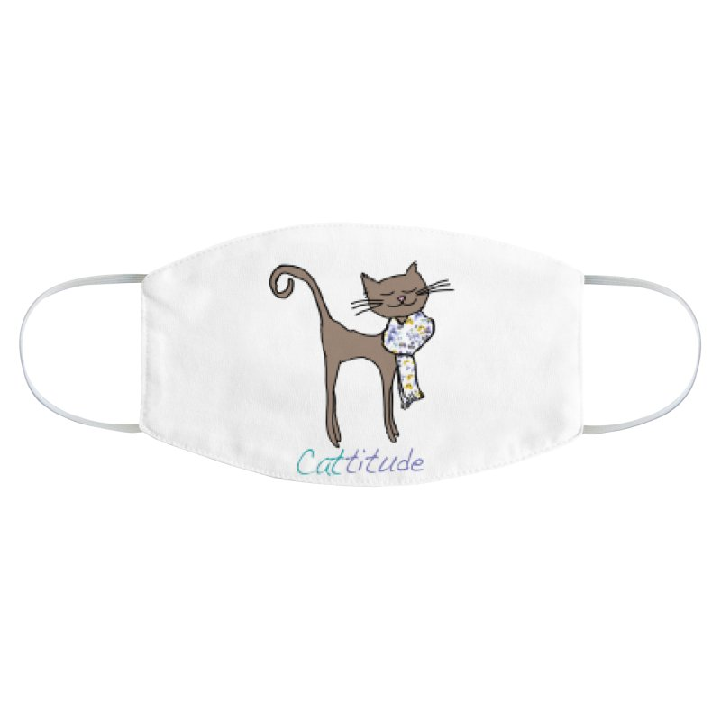Cattitude Accessories Face Mask by All Fashioned by Nature Artist Shop