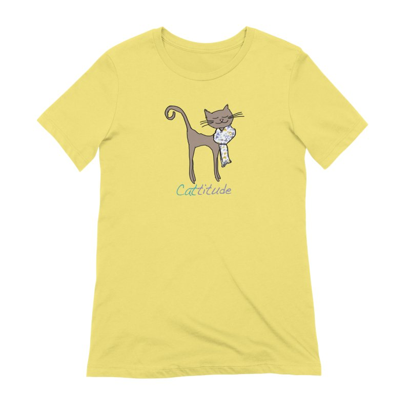 Cattitude Women's T-Shirt by All Fashioned by Nature Artist Shop