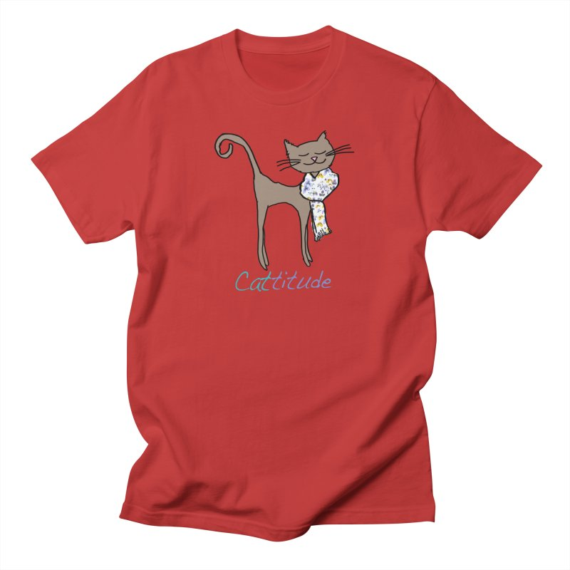 Cattitude Men's T-Shirt by All Fashioned by Nature Artist Shop