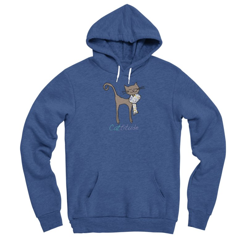 Cattitude Men's Pullover Hoody by All Fashioned by Nature Artist Shop