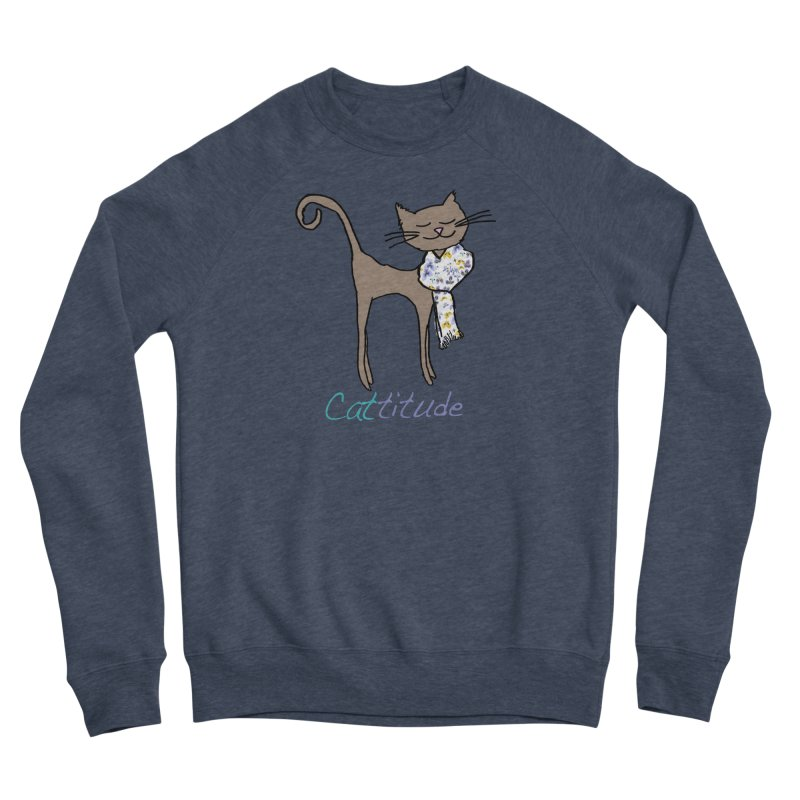 Cattitude Women's Sweatshirt by All Fashioned by Nature Artist Shop