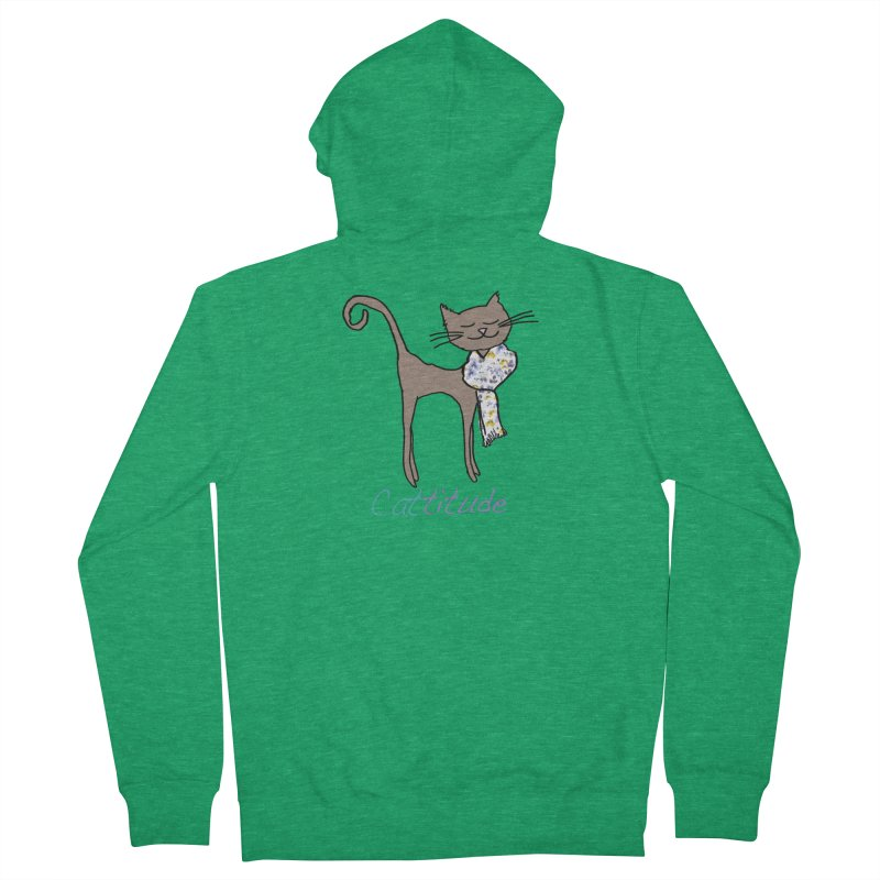 Cattitude Men's Zip-Up Hoody by All Fashioned by Nature Artist Shop