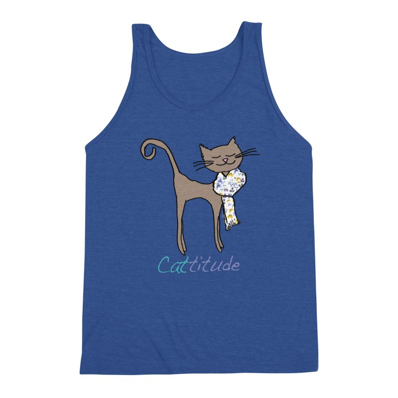 Cattitude Men's Tank by All Fashioned by Nature Artist Shop