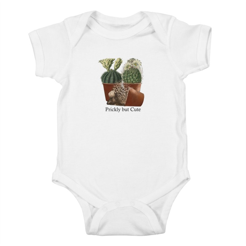 Prickly But Cute Kids Baby Bodysuit by All Fashioned by Nature Artist Shop