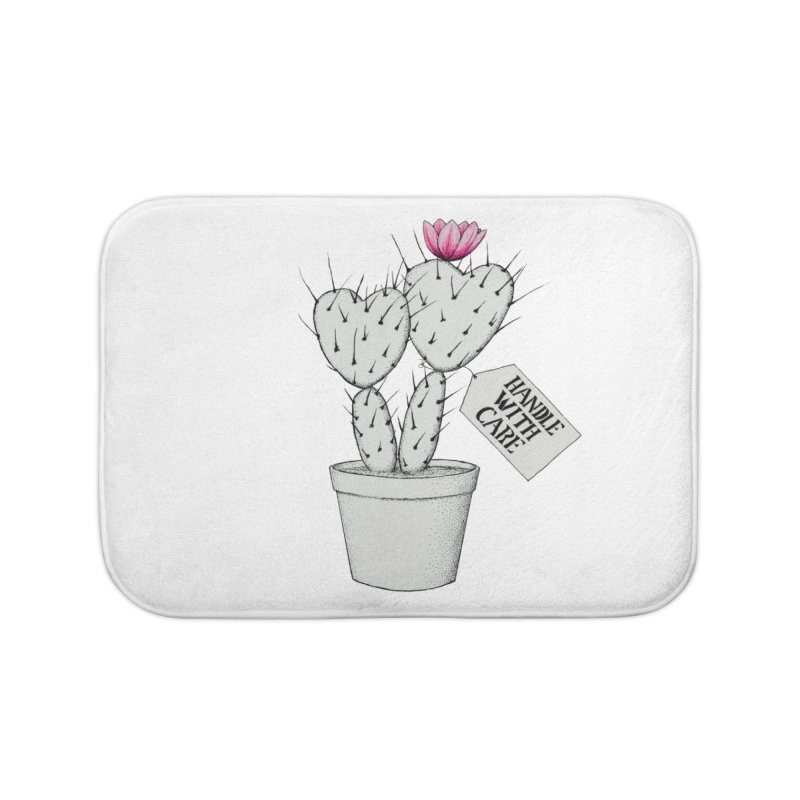 Handle With Care Home Bath Mat by All Fashioned by Nature Artist Shop