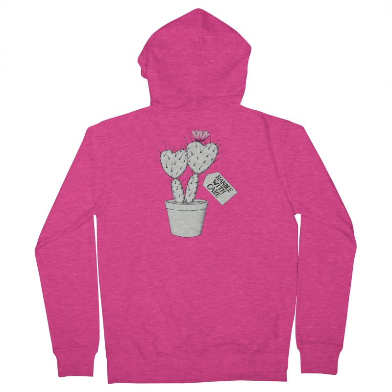 Handle With Care Women's Zip-Up Hoody by All Fashioned by Nature Artist Shop