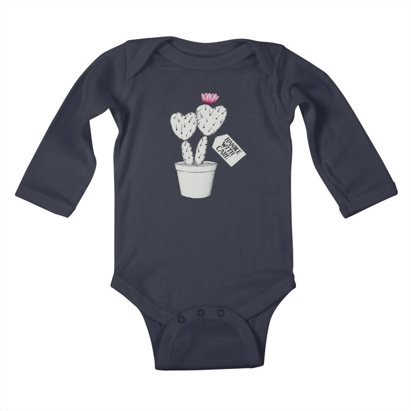 Handle With Care Kids Baby Longsleeve Bodysuit by All Fashioned by Nature Artist Shop