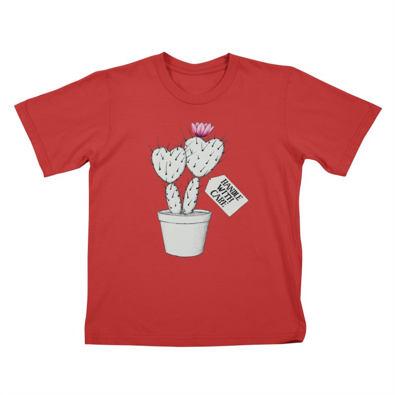 Handle With Care Kids T-Shirt by All Fashioned by Nature Artist Shop