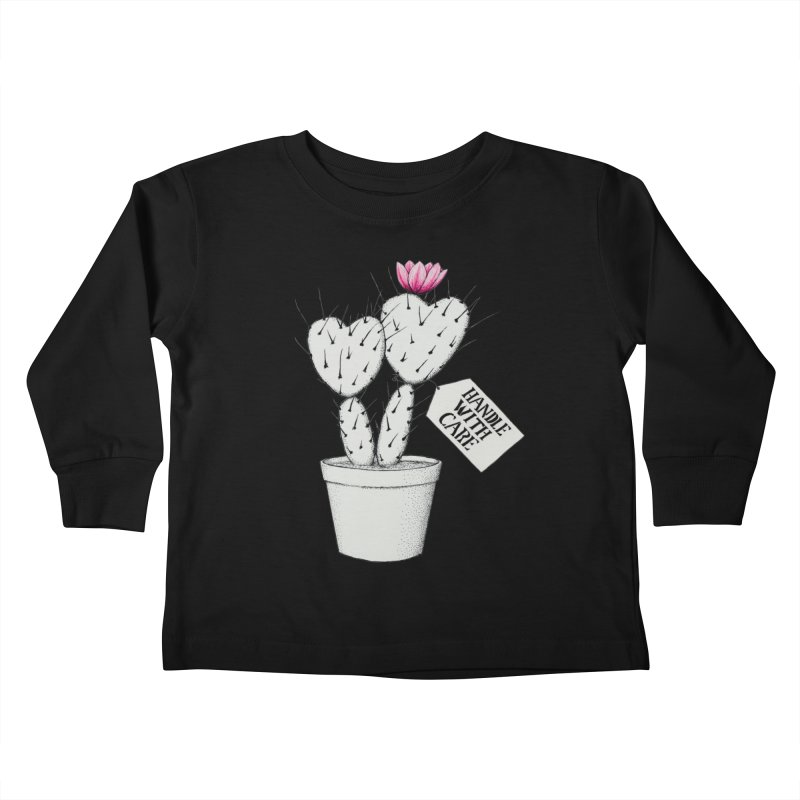 Handle With Care Kids Toddler Longsleeve T-Shirt by All Fashioned by Nature Artist Shop