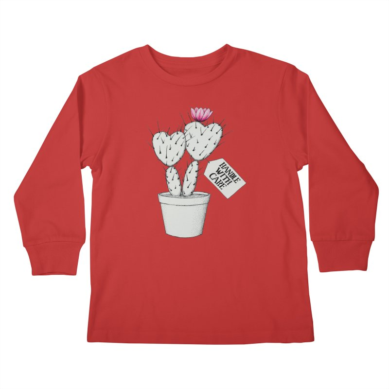 Handle With Care Kids Longsleeve T-Shirt by All Fashioned by Nature Artist Shop