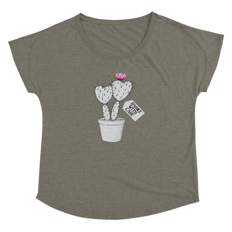 Handle With Care Women's Scoop Neck by All Fashioned by Nature Artist Shop