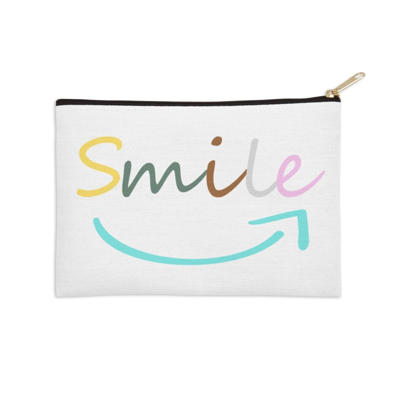 Smile Accessories Zip Pouch by All Fashioned by Nature Artist Shop