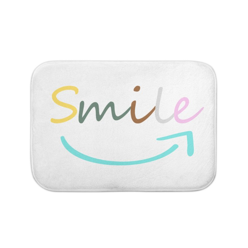 Smile Home Bath Mat by All Fashioned by Nature Artist Shop