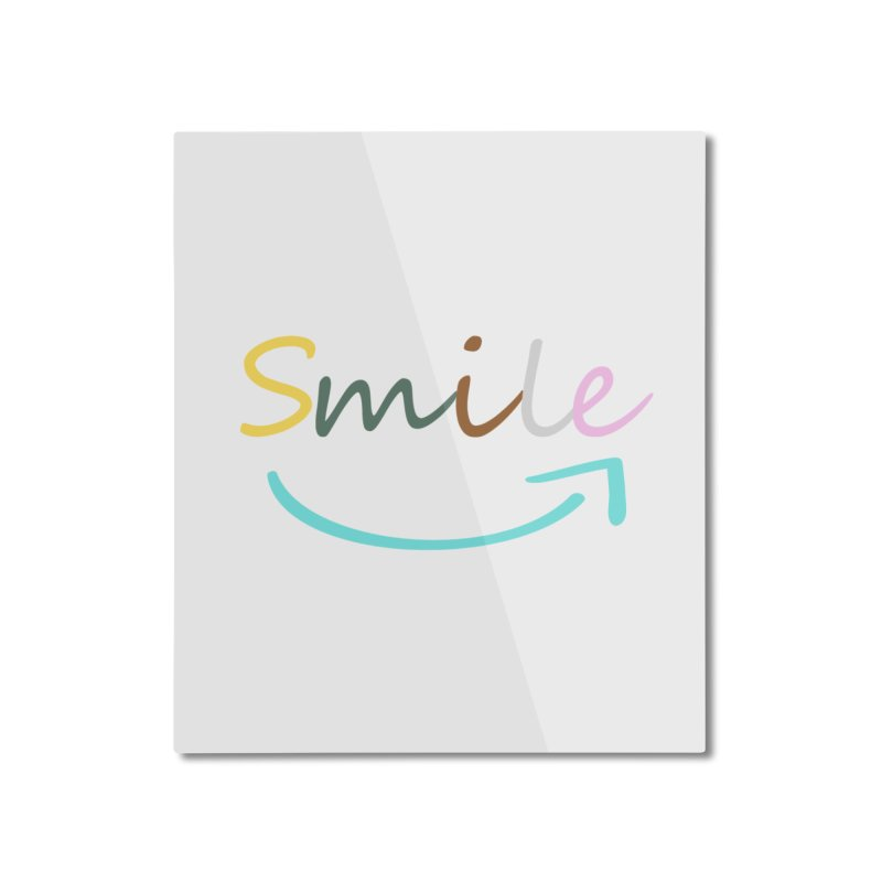 Smile Home Mounted Aluminum Print by All Fashioned by Nature Artist Shop