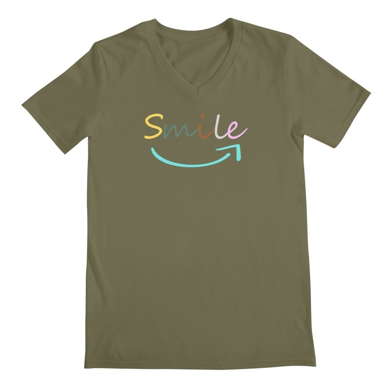 Smile Men's V-Neck by All Fashioned by Nature Artist Shop