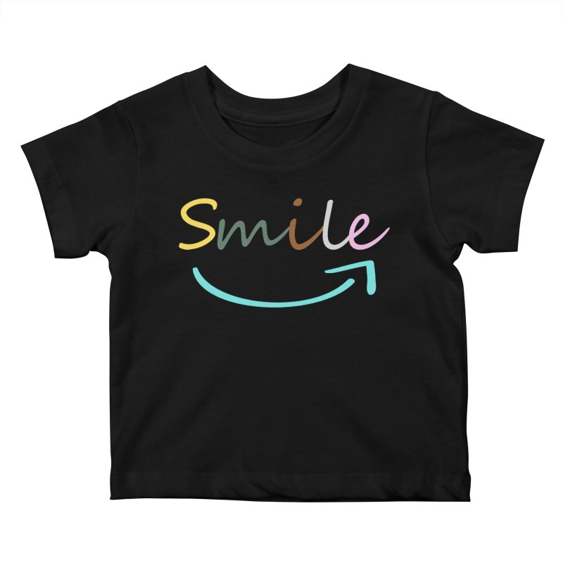 Smile Kids Baby T-Shirt by All Fashioned by Nature Artist Shop