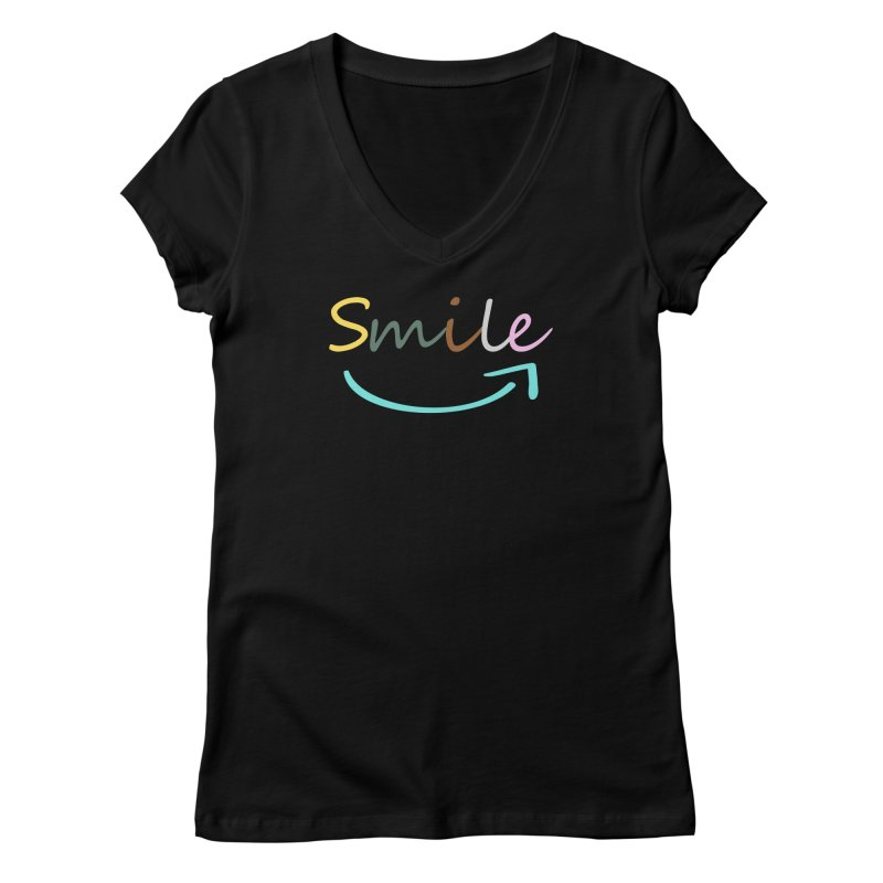Smile Women's V-Neck by All Fashioned by Nature Artist Shop