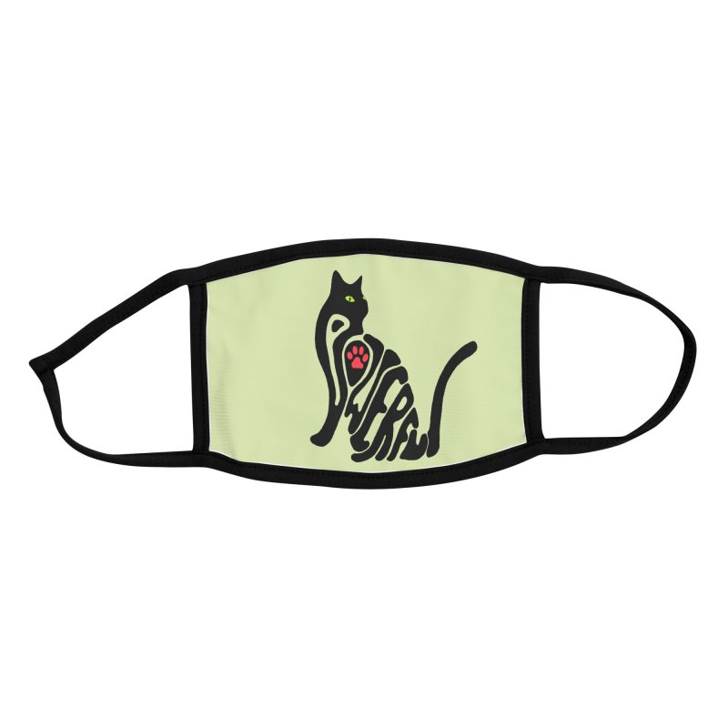 Cat Power Accessories Face Mask by All Fashioned by Nature Artist Shop