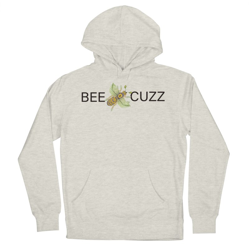 Bee Cuzz Men's French Terry Pullover Hoody by FashionedbyNature's Artist Shop